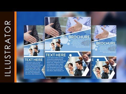 Professional Brochure Design Tutorial Simple Using Adobe Illustrator