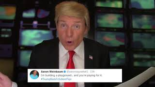 President DONALD TRUMP Reads #TrumpBackToSchoolTips Tweets! | What