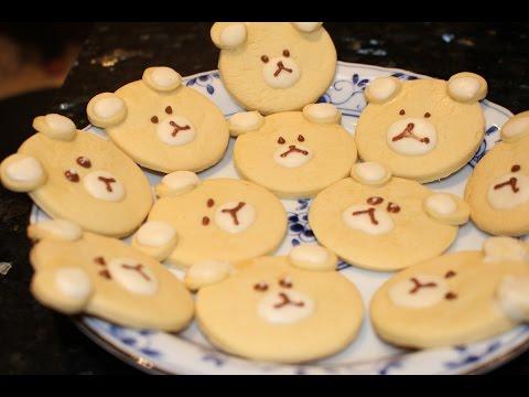 How to Make Teddy Bear Crackers   小熊餅乾