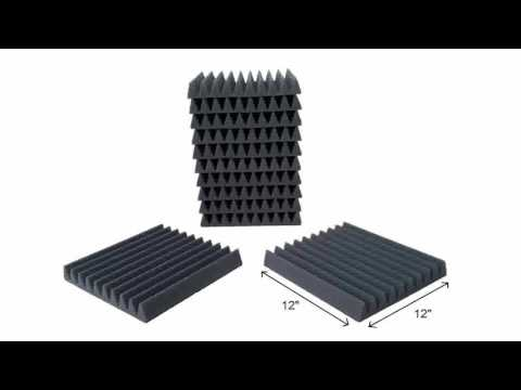 Mybecca Acoustic Wedge Studio Soundproofing Foam Wall Tiles Made in USA 12