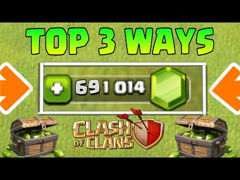 Top 3 ways to get free gems in clash of clans!!