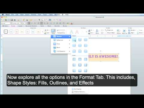 Microsoft Office Word MAC: How to Use WordArt