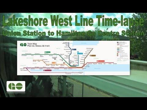 GO Transit - Lakeshore West Line Time-lapse (Union Station to Hamilton Go Centre Station)