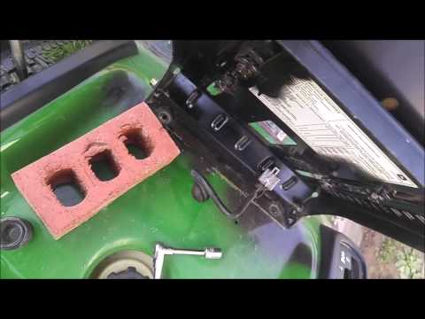 How to Remove Install Driving Seat on John Deere Riding Lawnmower LA100