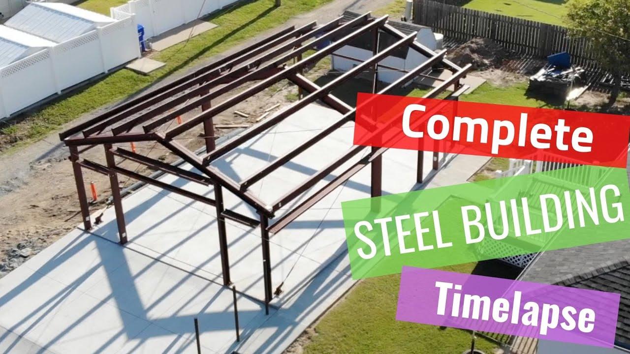 Complete Steel Building Time lapse RDH Construction