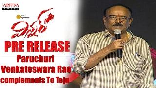 Paruchuri Venkateswara Rao Complements To Sai Dharam Tej || Winner Movie Pre Release Event