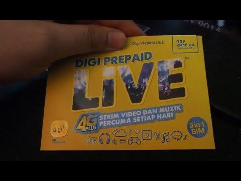 [Unboxing] NEW Digi Prepaid Live Sim Card 2017 (Malaysia)