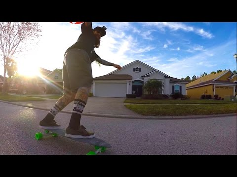 He Almost Ate it!  Suburban Surfing, Drones, ATV's, and Friends!