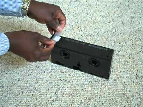 How to Record on a Pre-recorded VHS tape
