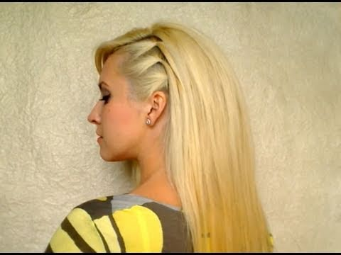 Cute easy party hairstyle for medium hair No heat elegant everyday hairdo with volume