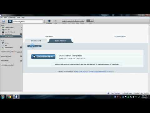 How to add search templates in Vuze