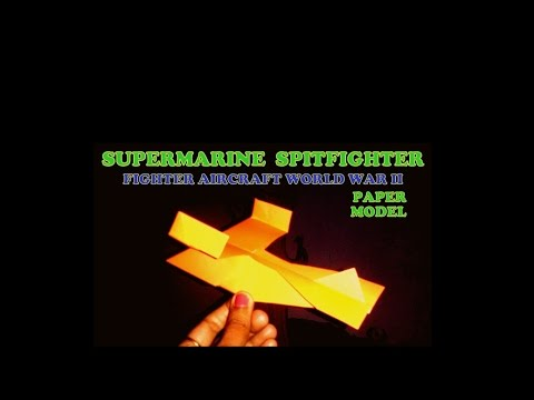 How to make paper plane model- Supermarine Spitfighter- old design that glides far