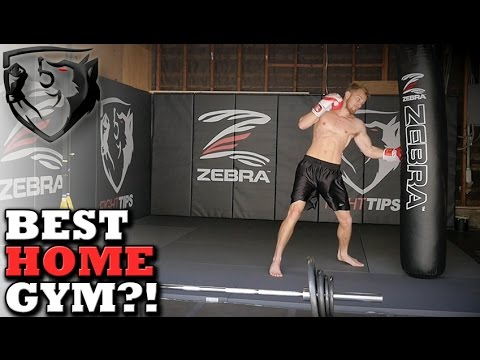 Garage Converted into Home MMA Gym -- by Zebra Mats