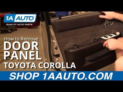 How To Install Replace Door Panel Toyota Corolla 94-97 1AAuto.com