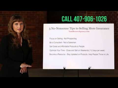 5 No-Nonsense Tips to Selling More Insurance