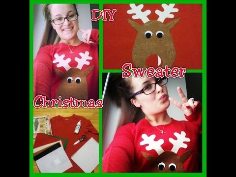 DIY Christmas: Ugly Christmas Sweater / Cute Reindeer Shirt