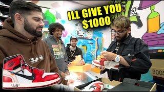 Selling FAKE $5,000 Off White Jordan to COOL KICKS!! (PRANK)