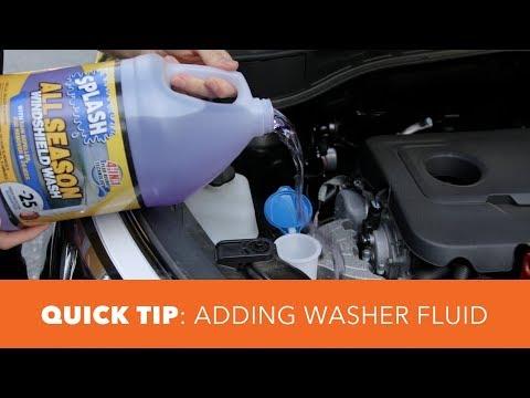 Adding Windshield Washer Fluid - Quick Tip