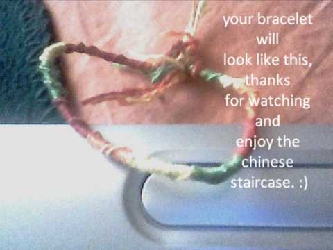 chinese staircase bracelet tutorial