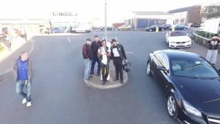 drone footage of RI tyres car meet in Blackburn