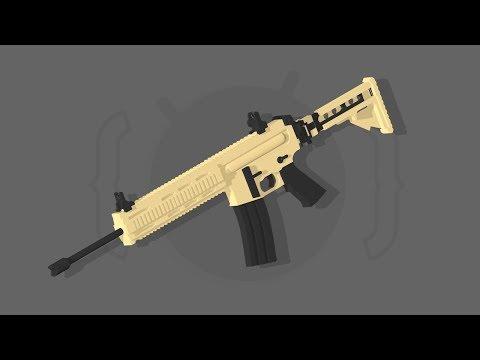 LR-300 Assault Rifle Speed Art | C4D