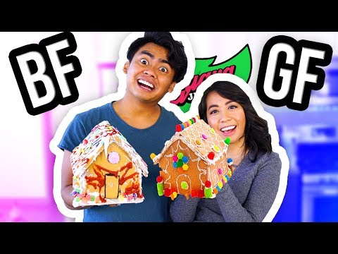 BOYFRIEND VS GIRLFRIEND GINGERBREAD HOUSE SHOWDOWN! (Guava Juice Edition)