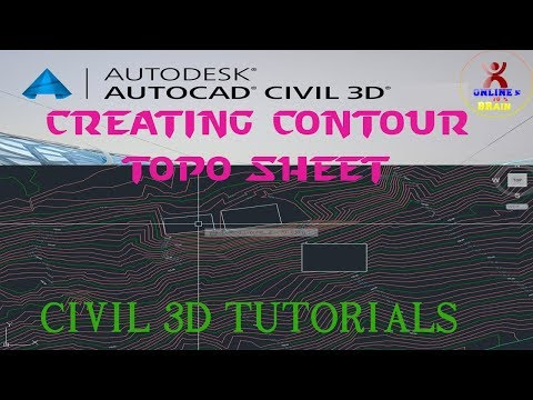 How to make Contour topo sheet on AutoCAD CiViL 3D {नेपाली भाषामा}