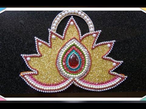 DIY how to make Golden Mukut for Krishna/ Ganpati Bappa