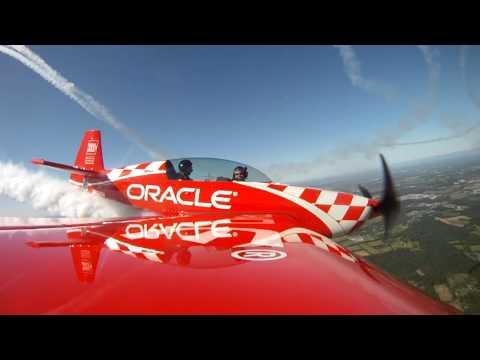 Flying with Team Oracle near Manassas, Virginia
