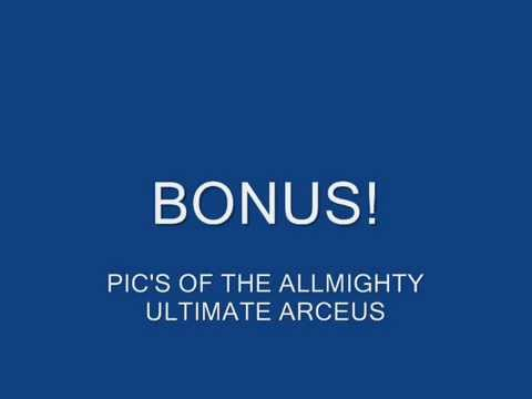 ultimate arceus code for pokemon platinum action replay code