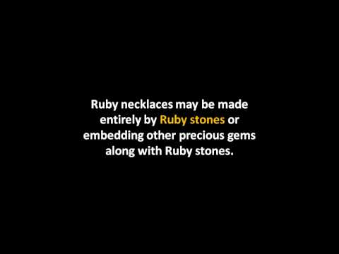 Selecting a Perfect Ruby Necklace