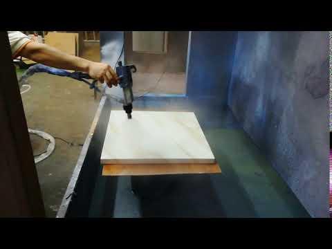 Liquid electrostatic spray gun for board