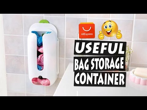 UNBOXING Useful Bag Storage Container | Recycle Box Organizer Review
