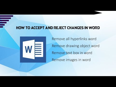 How to accept and reject changes in word?