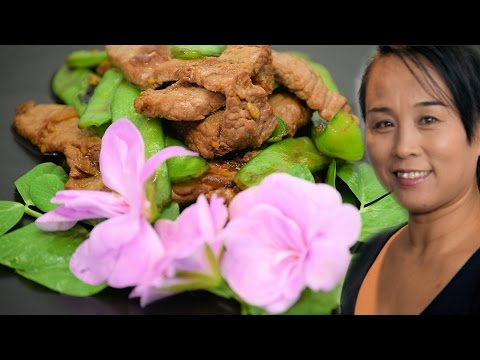 Beef & Sugar Snap Peas Stir Fry (Chinese Style Cooking Recipe)