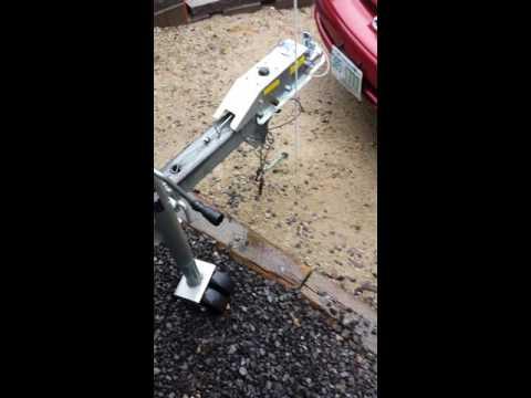 Titan boat trailer disk brake install