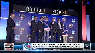 Rangers take surprise pick with Chytil at 21