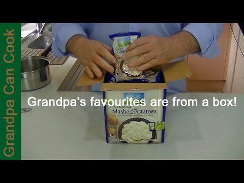 Grandpa's Favorite Mashed Potatoes - How Can That Be. They're In a Package