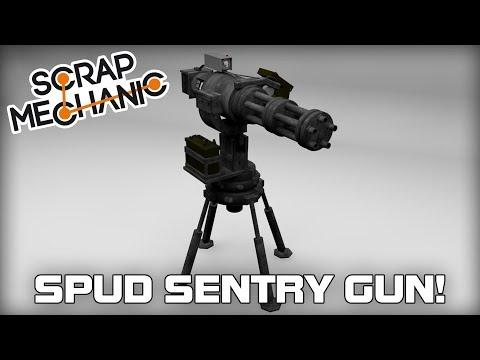 Building a Spud Sentry Turret Gun! (Scrap Mechanic Live Stream)
