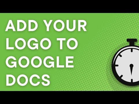 Add a logo to a Google Docs header (2017)