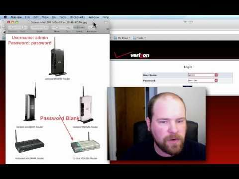 Verizon FiOS Wireless Router - Change Password and Router Name
