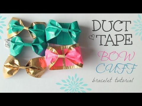 DIY DUCT TAPE Bow Cuff Bracelet - How To | SoCraftastic