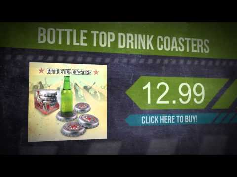 Bottle Top Drink Coasters