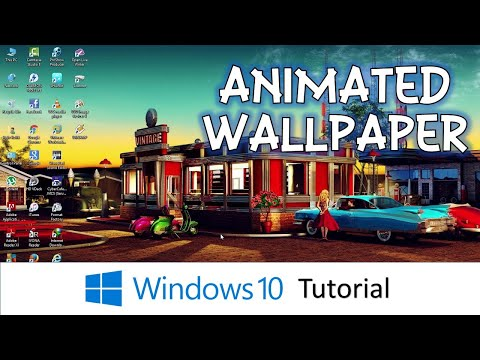 How To Have Animated Desktop Background Wallpaper | Microsoft Windows 10 Tutorial