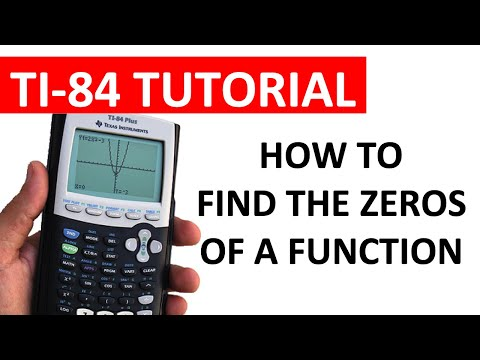 Finding the  Zeros of a Function using a TI-84 Series Calculator