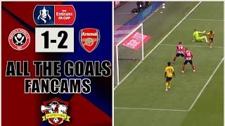 Dani Ceballos wins it | Sheffield United 1-2 Arsenal | Arsenal Fancams| Live