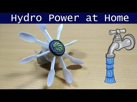 Hydro Power at Home | Hydroelectric Generator DIY