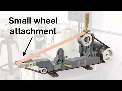 Belt grinder small wheel attachment