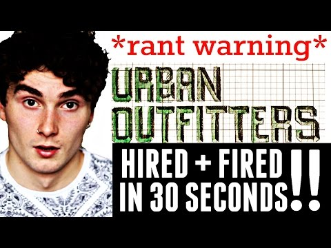 Urban Outfitters Job Interview 2015 || Hired + Fired in 30 Seconds!!