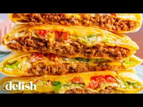 Taco Bell Copycat Crunchwrap Supreme   Delish